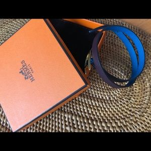 Hermes Behapi Double Tour Leather bracelet